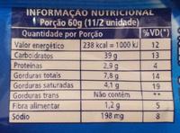 Pingüinos - Informação nutricional - pt