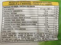 Torrada integral - Informação nutricional - pt