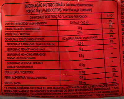 Biscoito Maria - Nutrition facts