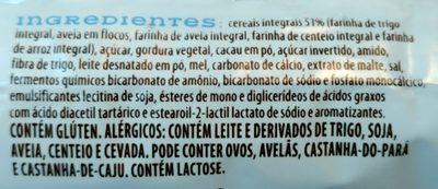 Biscoito integral cacau e mel - Ingrediënten