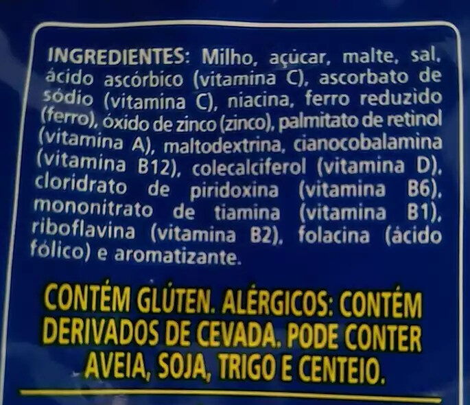 Sucrilhos original - Ingredientes