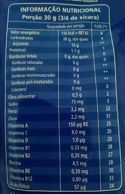 Sucrilhos original - Nutrition facts