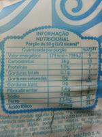 Farinha de trigo enriquecida com ferro e ácido fólico tipo 1 - Nutrition facts
