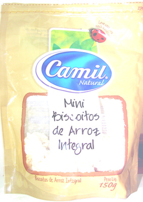 Mini Biscoitos de Arroz Integral Camil Natural - Produto - pt
