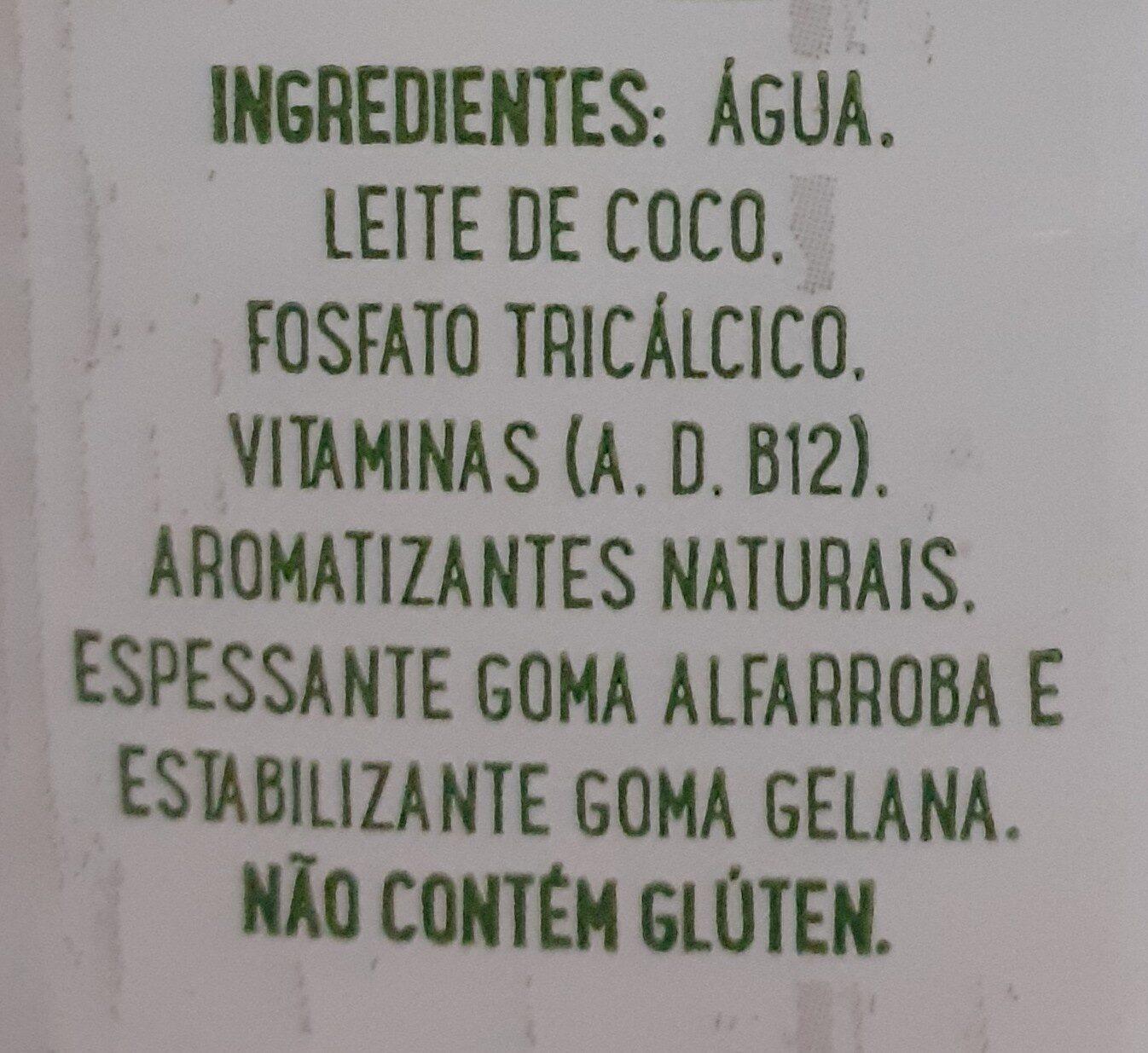 Leite Ducoco - Ingrédients - pt