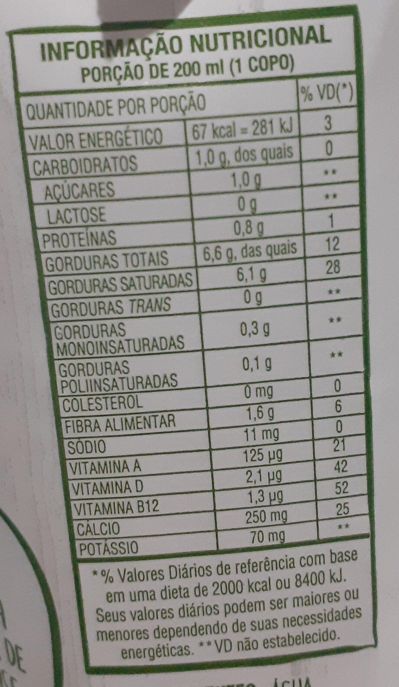Leite Ducoco - Informations nutritionnelles - pt