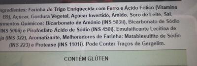 - Ingredientes - pt