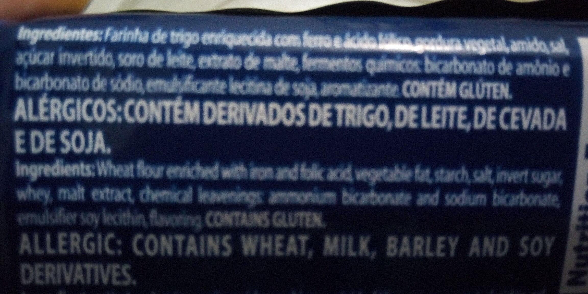 cream cracker - Ingredientes - pt