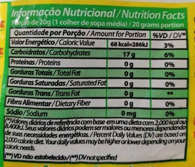 Almidón mandioca - Nutrition facts - en