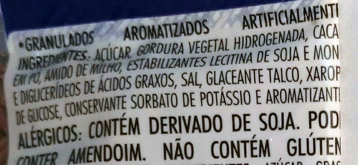 Granulado para cobertura receita original - Ingredients