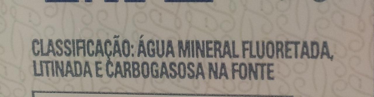 Água Mineral São Lourenço Sem Gás - Ingredients