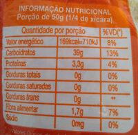 Arroz parboilizado - Informação nutricional - pt