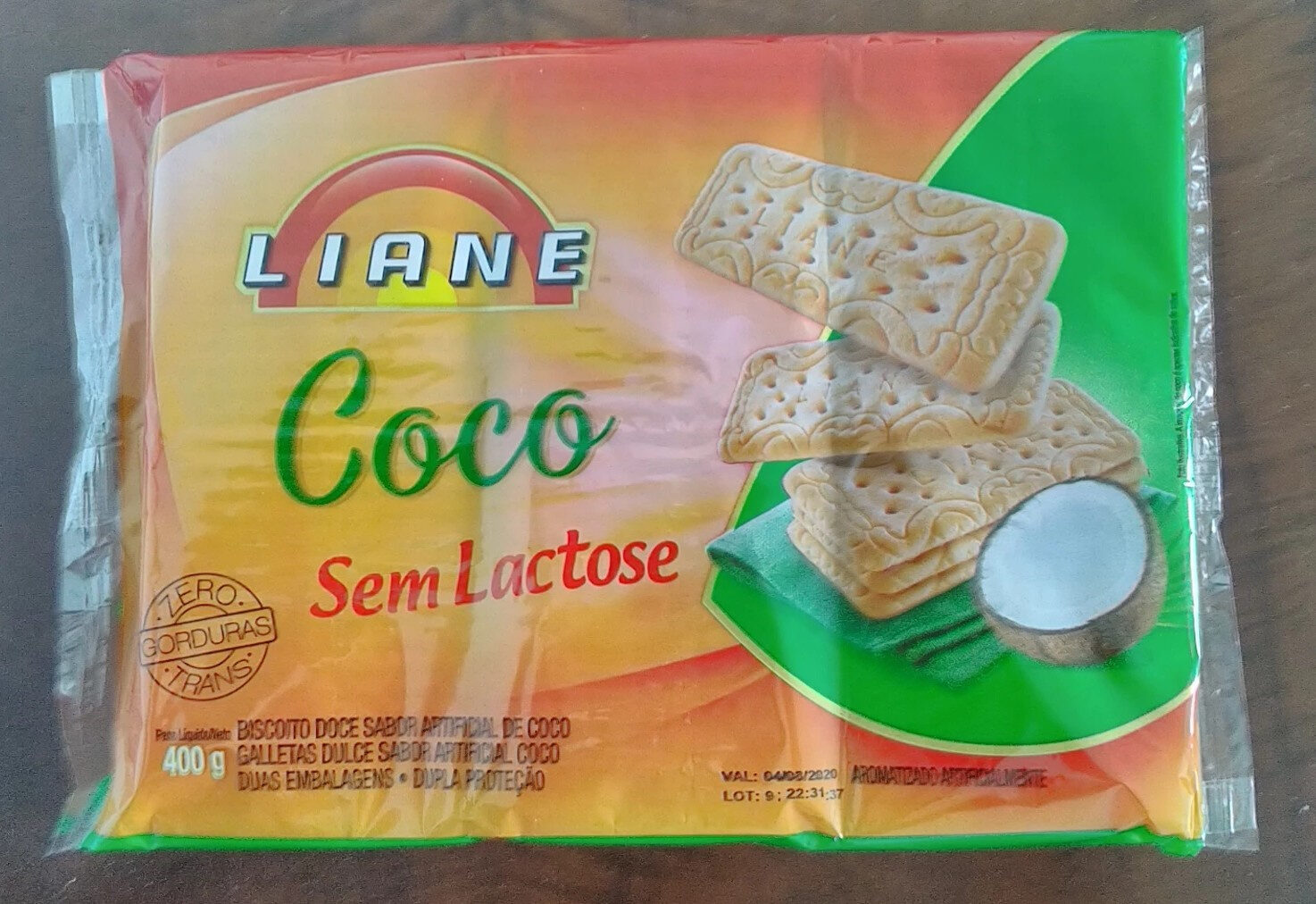 Biscoito doce sabor artificial coco - Product - pt