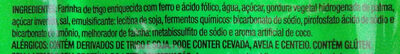 Biscoito doce sabor artificial coco - Ingredients - pt