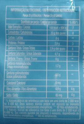 Biscoito doce amanteigado sabor artificial de leite - Nutrition facts
