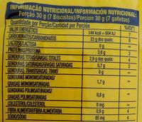 Biscoito doce sabor artificial de maizena - Informação nutricional