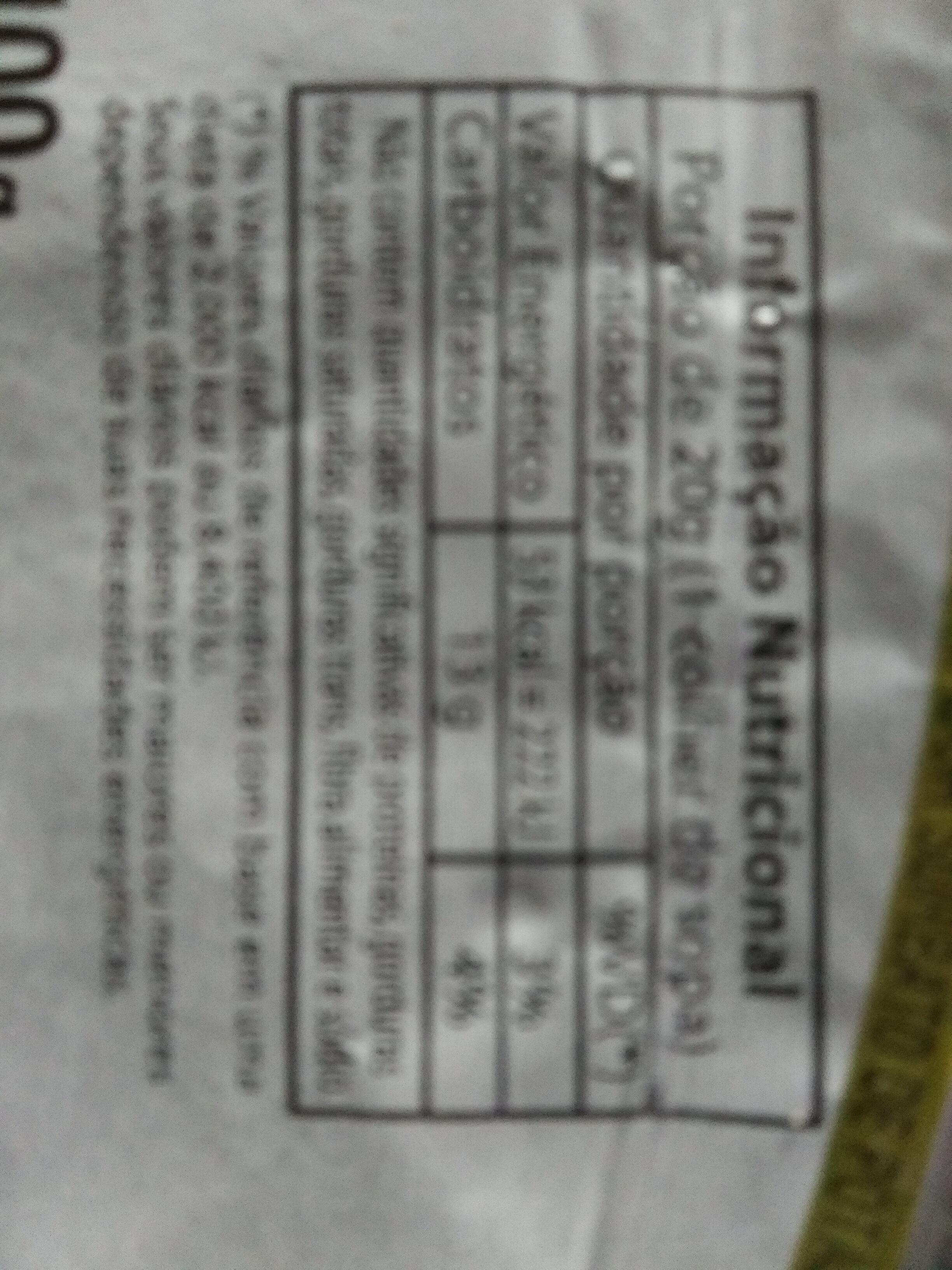 Geleia de morango - Informations nutritionnelles