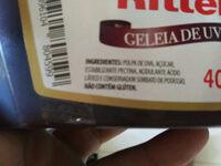 Geleia de uva - Ingrédients - pt