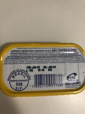 Sardinhas com óleo comestível - Ingredientes - pt