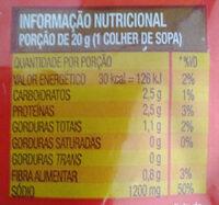Misso - Informação nutricional - pt