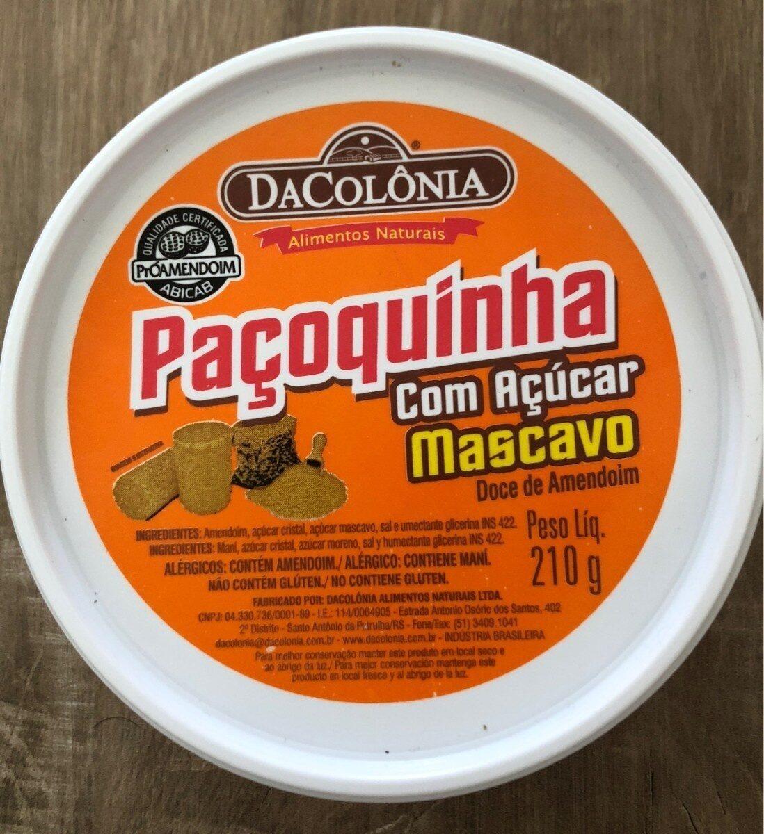 Paçoca Rolha Com Açúcar Mascavo Dacolônia 210G - Produto - fr