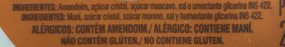 Paçoca Rolha Com Açúcar Mascavo Dacolônia 210G - Ingredientes - fr