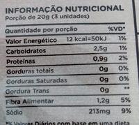 Champignon inteiro em conserva - Informação nutricional - pt