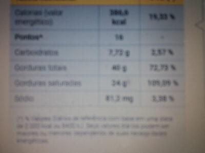 Creme de Leite - Nutrition facts - pt