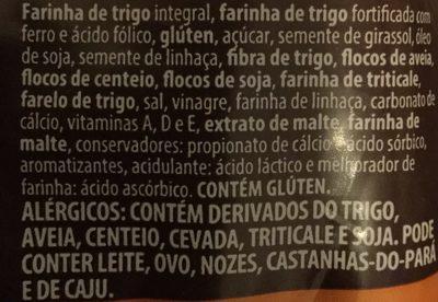Pão De Forma Nutrella Integral 7 Grãos 400G - Ingredientes - pt