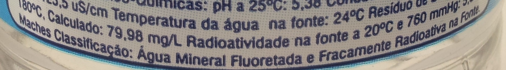 Água Mineral Petrópolis Sem Gás - Ingredients
