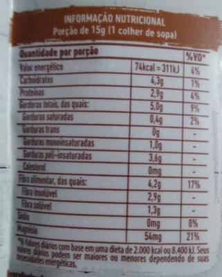 Linhaça marrom - Informação nutricional