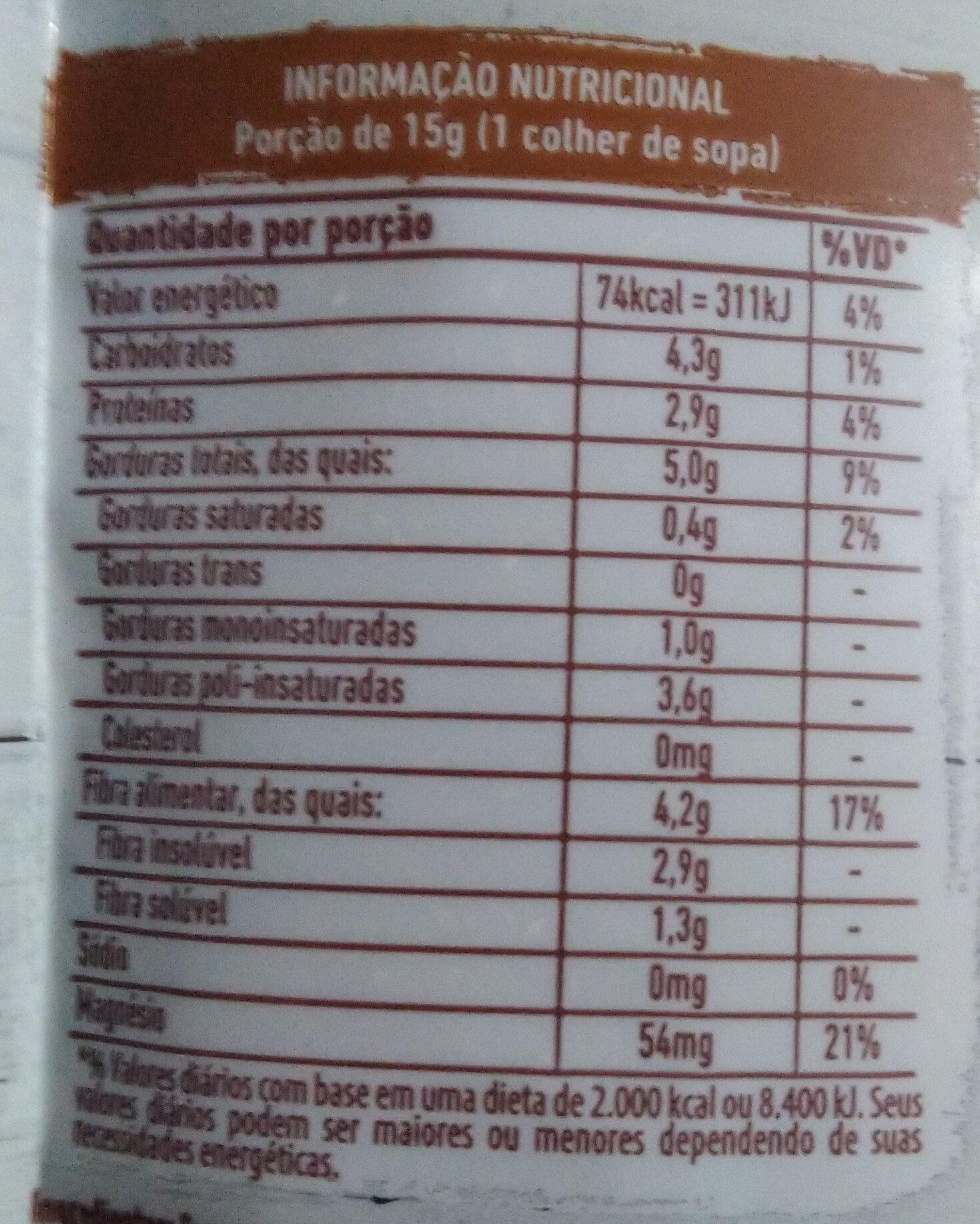 Linhaça marrom - Informação nutricional - pt