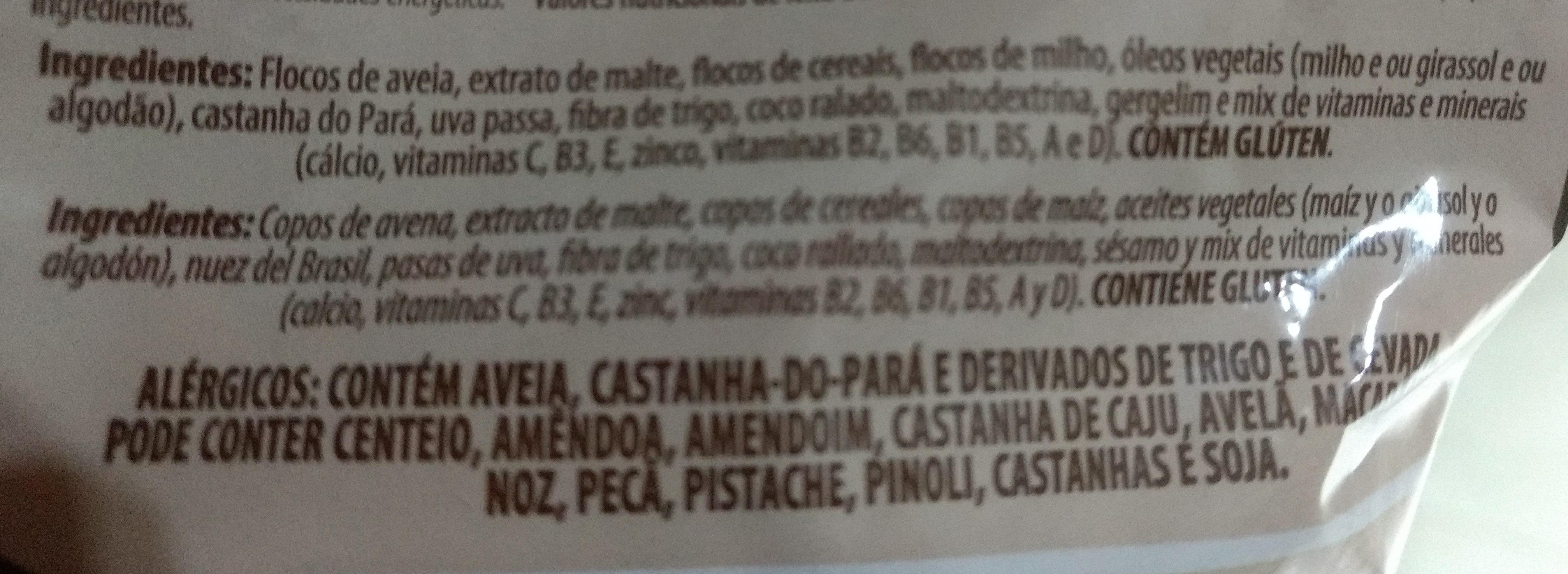 Grain Flakes granola integral - Ingredientes - pt
