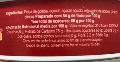 Predilecta Goiabada - Ingredientes - pt