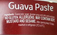 Goiabada Predilecta Lata - Ingredientes - en