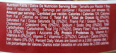 Goiabada Predilecta Lata - Informação nutricional - en