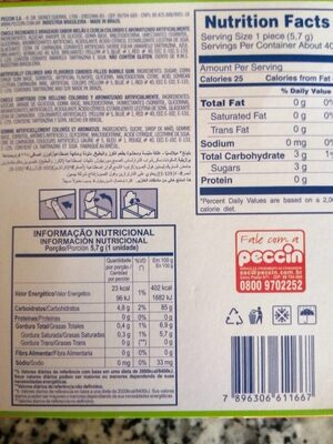 Blong 3 - Chicle de bola relleno - Nutrition facts