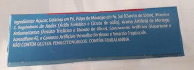 Gelatina de Morango - Ingredients - pt
