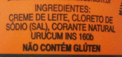 Manteiga Aviação - Ingrediënten - pt