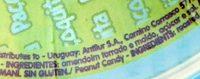 Doce de amendoim formato retangular embalada - Ingredients