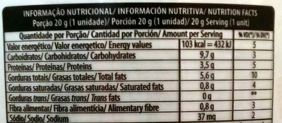 Doce de amendoim formato retangular embalada - Nutrition facts