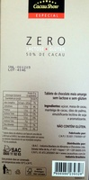Chocolate zero lactose e zero glúten. 50%de cacau - Produit - pt