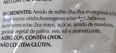 sequilhos sabor nata - Ingredients