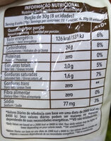 sequilhos sabor nata - Nutrition facts