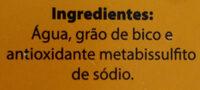 Grão de bico cozido no vapor - Ingredientes - pt