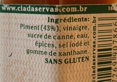 Sauce au piment Malagueta - Ingrediënten