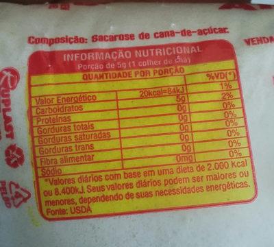 açúcar alegre - Ingredientes - pt