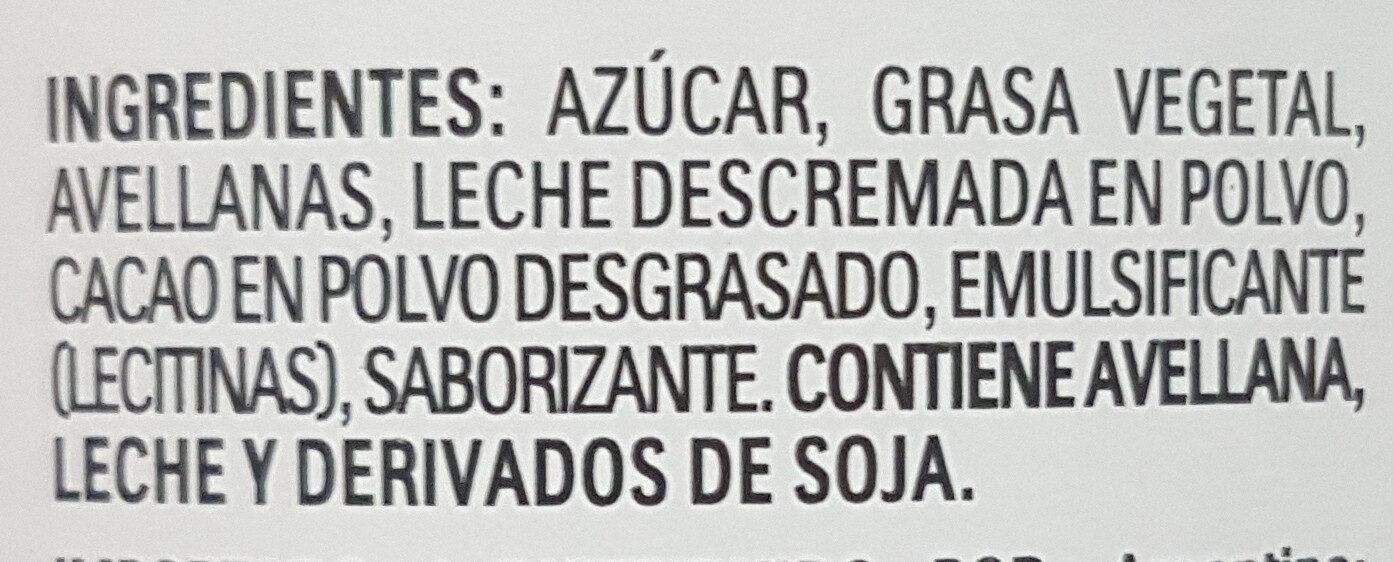 Nutella - Ingredients - es