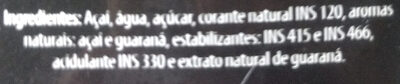 Amazoo Açaí - Ingredientes - pt