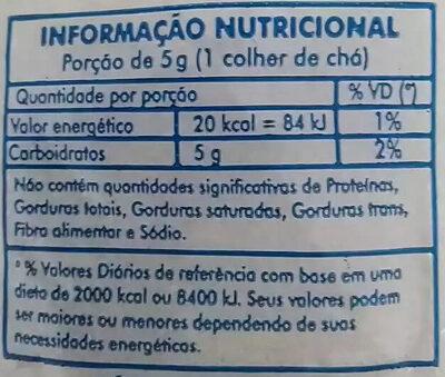 Açúcar cristal branco - Informations nutritionnelles - pt
